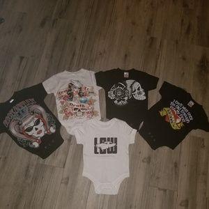 LOT OF 5 BABY ONESIES